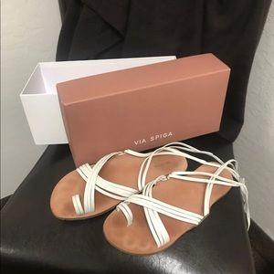 Via Spiga Allegra sandal in Porcelain (white)